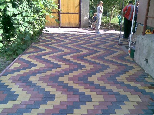 способы укладки тротуарной плитки кирпичик